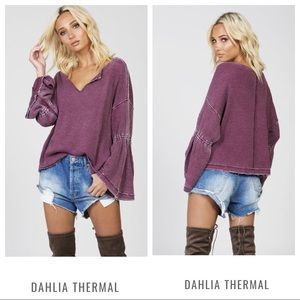 NWT Free People Dahlia thermal top M medium